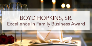 Boyd Hopkins Excellence Award graphic