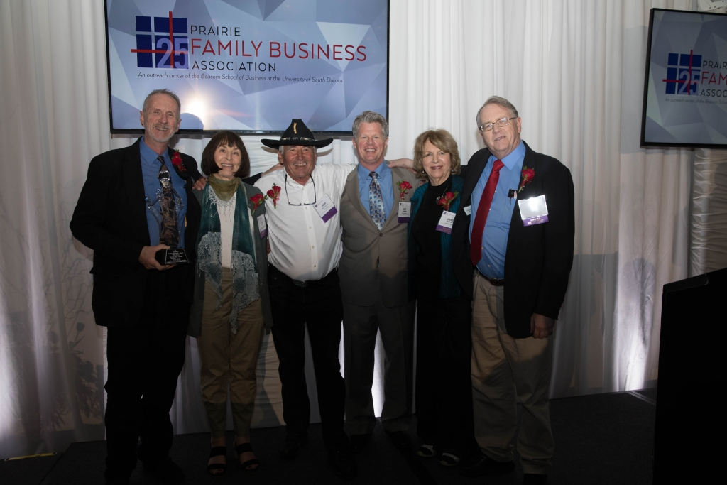 The Brockelsby family attended the Prairie Family Business Association's annual conference to accept the Heritage Award.