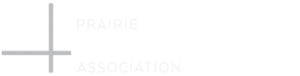 prairie family business association logo white