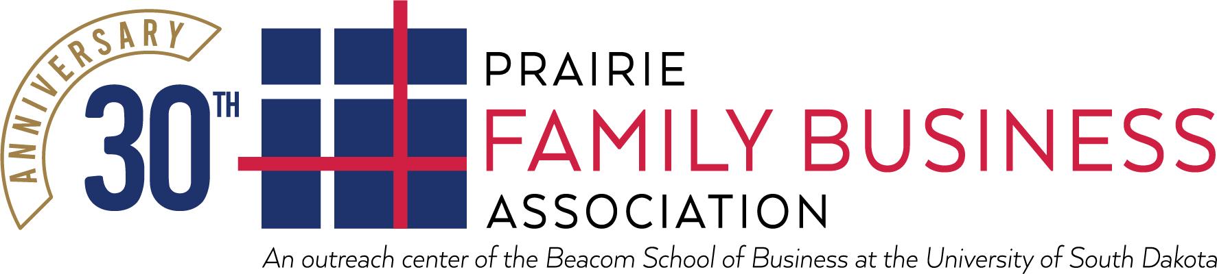 prairie family business 30th anniversary logo